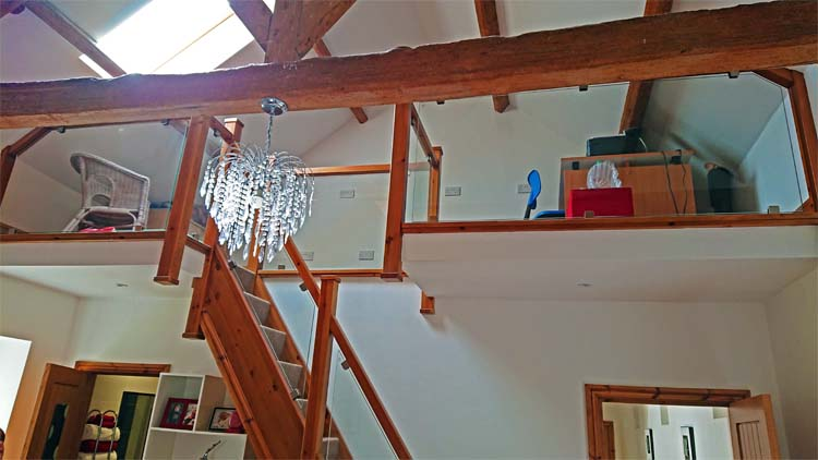 Staircase and Mezzanine after completion of conversion.